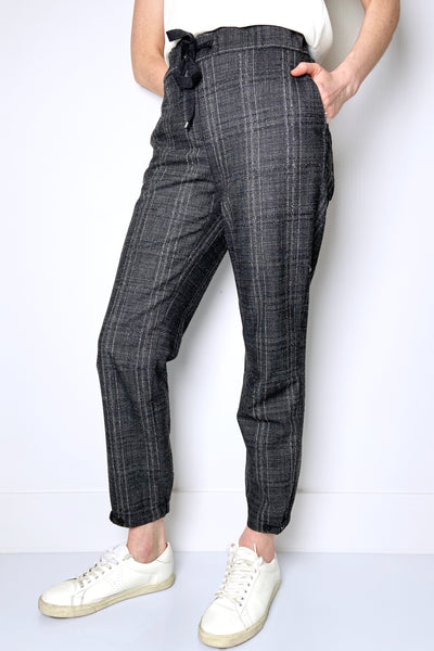 Lorena Antoniazzi Grey Plaid Joggers
