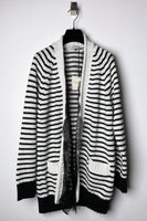 Philosophy di Lorenzo Serafini Striped Cardigan with Lace Detail