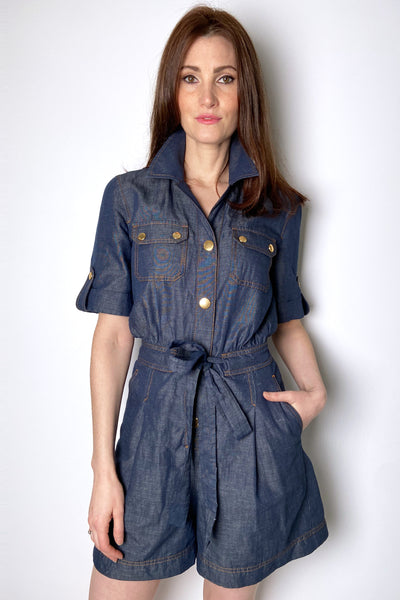 Boutique Moschino Chambray Jumpsuit