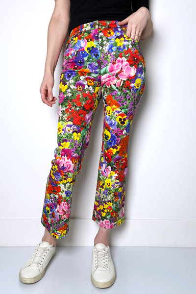 Boutique Moschino Flower Print Jeans