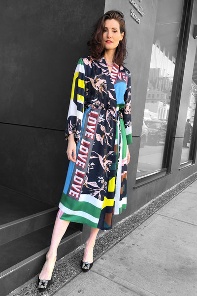 "Dorothee Schumacher Colourful ""Love"" Wrap Dress"