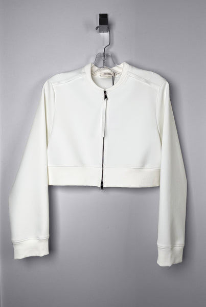 Dorothee Schumacher Cropped Cream Scuba Jacket. (Last One, Size 4)