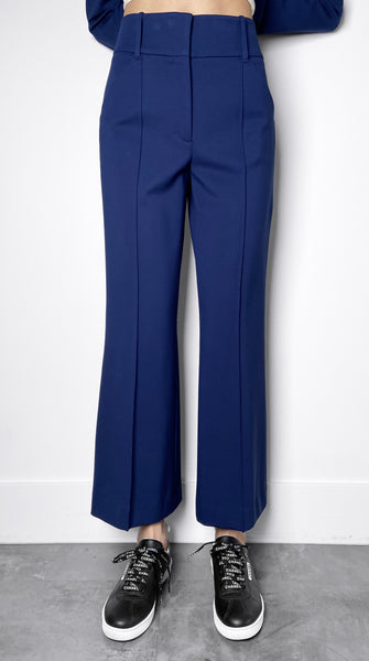 Dorothee Schumacher Blue Jersey Flared Pants