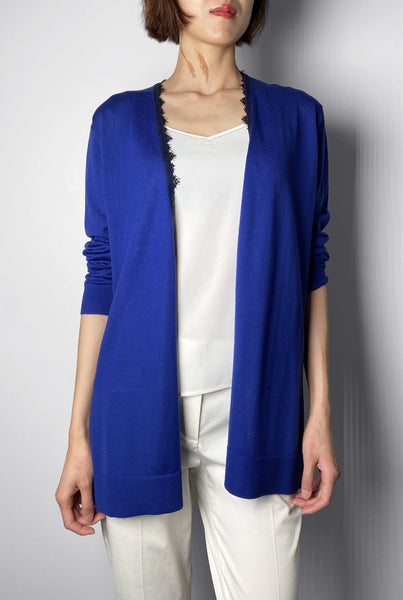 Dorothee Schumacher Blue Lace Trim Cardigan