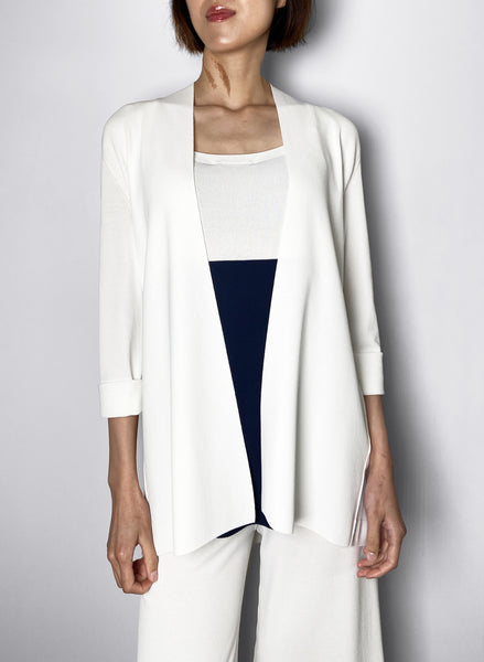 D. Exterior White Cardigan - Shorter Version