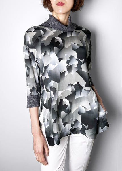 Lorena Antoniazzi Dark Grey Print Tunic Top