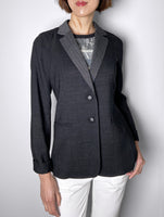 Lafayette Black Denim Stretch Jacket