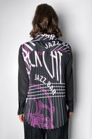 "Dorothee Schumacher Black ""Jazz Bar"" Blouse"