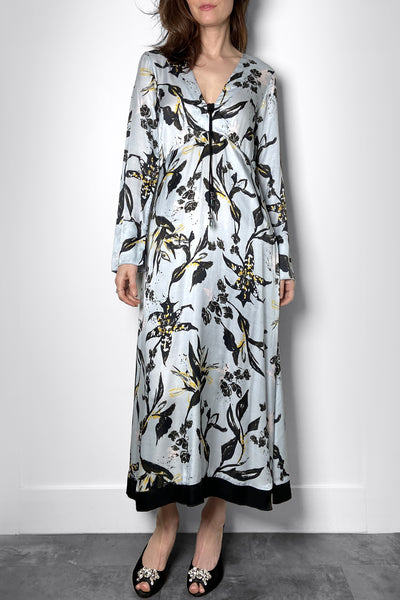 Dorothee Schumacher Blue Abstract Floral Dress. (Last One, Size 1)