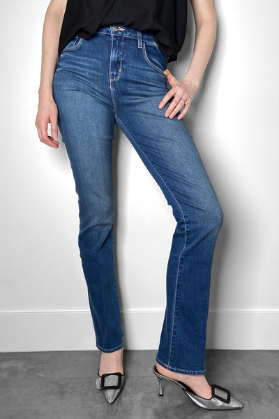 L'Agence Medium Wash Boot-Cut Jeans
