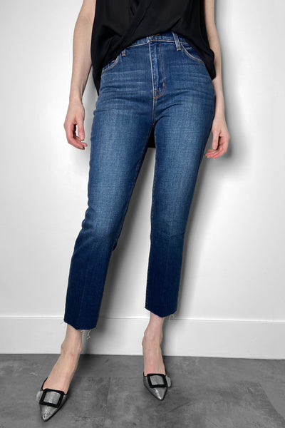 L'Agence Medium Wash Straight Cut Jeans