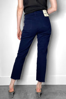 L'Agence Navy Straight Cut Jeans