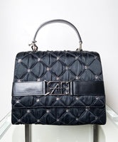Alberta Ferretti Quilted Iconic Messenger Purse