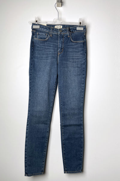 "L'Agence ""New Vintage"" Margot Cropped Jeans"