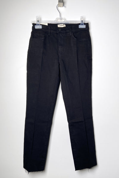 "L'Agence ""Sada"" Black Straight Cut Jeans"