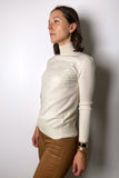 Alberta Ferretti Cream Turtleneck