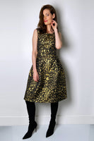 Samantha Sung Metallic Leopard Dress