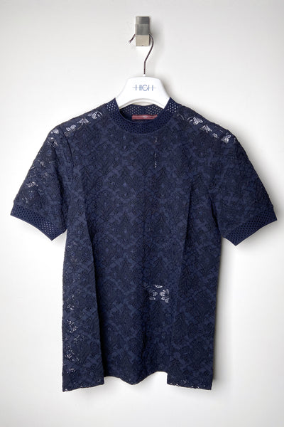 HIGH Navy Lace T-Shirt