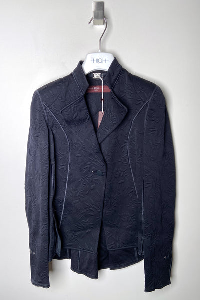 HIGH Navy Brocade Jacket