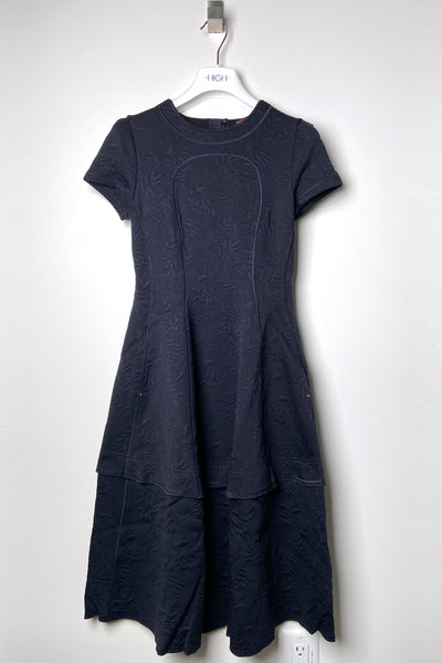 HIGH Navy Brocade Dress