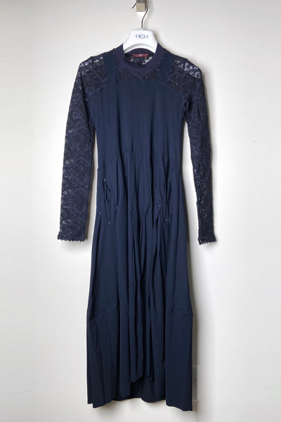 HIGH Navy Lace Arm Dress