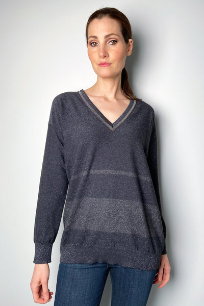 Fabiana Filippi Sparkly Charcoal Knit Shirt