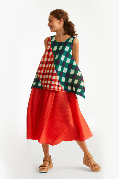Pleats Please Red Antelope Skirt