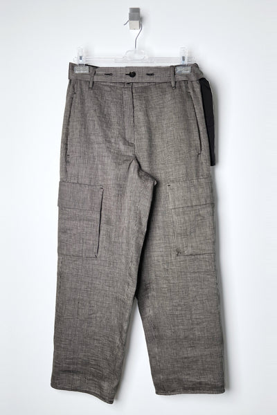 Annette Gortz Striped Linen Cargo Pants