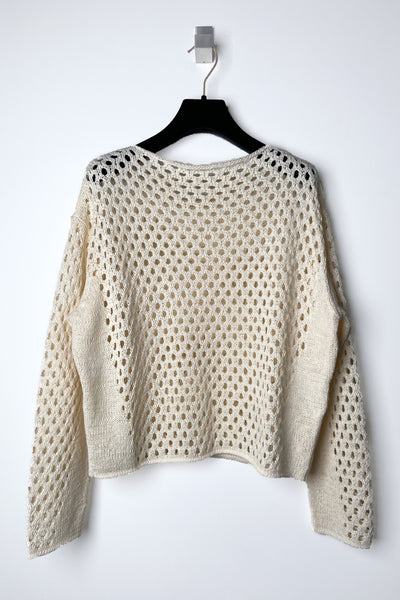 Annette Gortz Cream Transparent Pullover