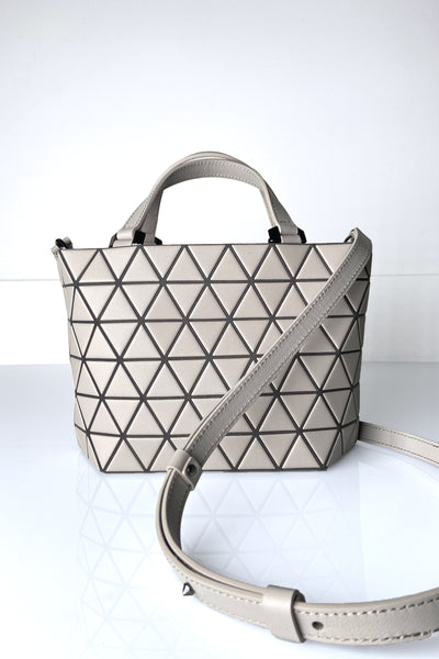 Bao Bao Crystal Matte Grey Purse