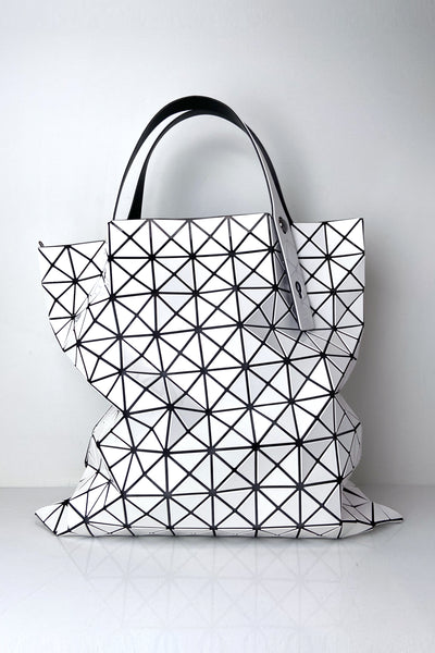Bao Bao White Large Prism Tote Bag