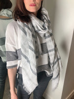 D. Exterior White and Grey Scarf. (Last One)