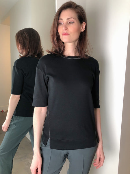 Fabiana Filippi Black Crew Neck Shirt