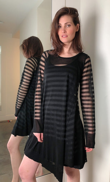 Rundholz Black Sheer Long Sleeve Tunic