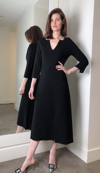 Dorothee Schumacher Black Ribbed Dress. (Last One, Size 5)