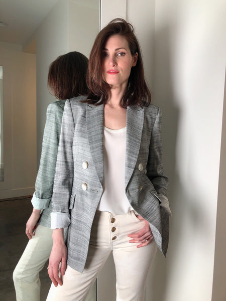 Dorothee Schumacher Grey Light Tweed Blazer