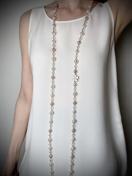 Edward Achour Floral Pearl Necklace