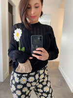 Boutique Moschino Sunflower Crochet Pullover
