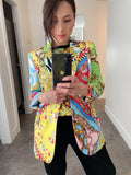 Boutique Moschino Print Blazer. (Last One, Size 42)