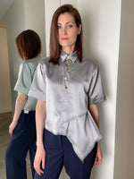 Cedric Charlier Silver Fringe Top. (Last One, Size 46)