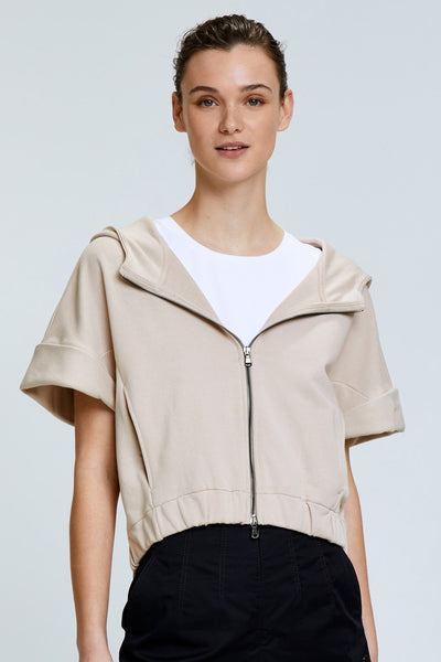 Dorothee Schumacher Stone Casual Coolness Sweatshirt Jacket