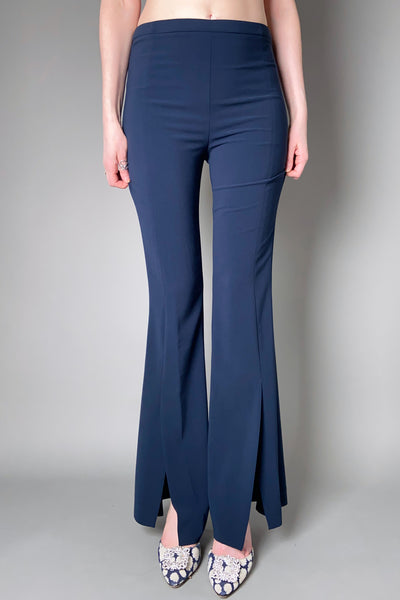 D. Exterior Navy Flared Pants