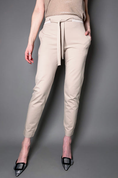 D. Exterior Sand Jersey Jogger Pants with Sparkly Details