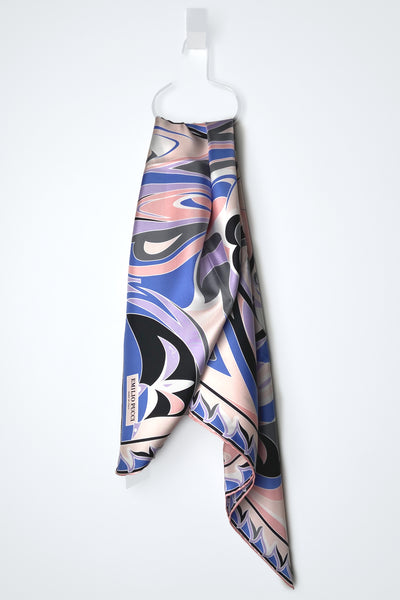 Emilio Pucci Tropico Print Scarf in Pink and Blue