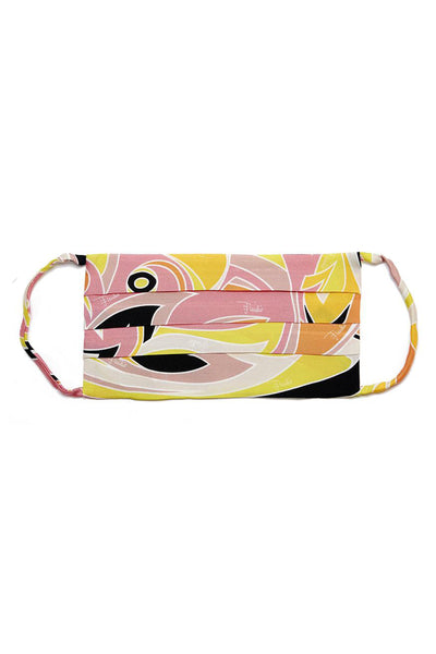 Emilio Pucci Dinamica Print Mask in Pink and Yellow