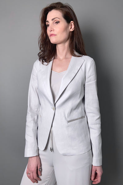 Fabiana Filippi Light Grey Linen Blazer