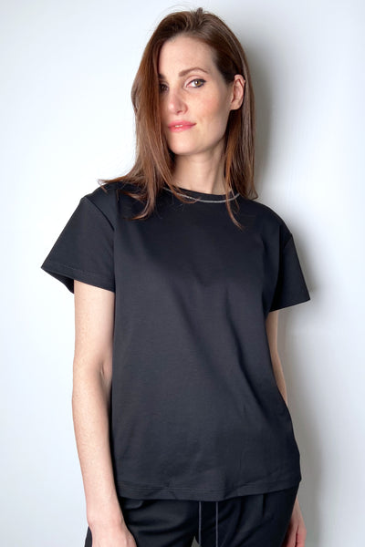 Fabiana Filippi Black T-Shirt with Brilliant Detail