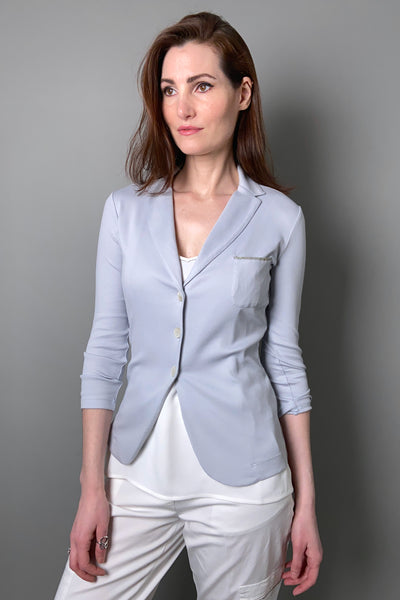 Fabiana Filippi Light Blue Knit Blazer