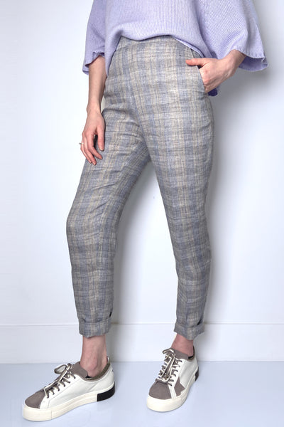Fabiana Filippi Plaid Pull-On Trousers