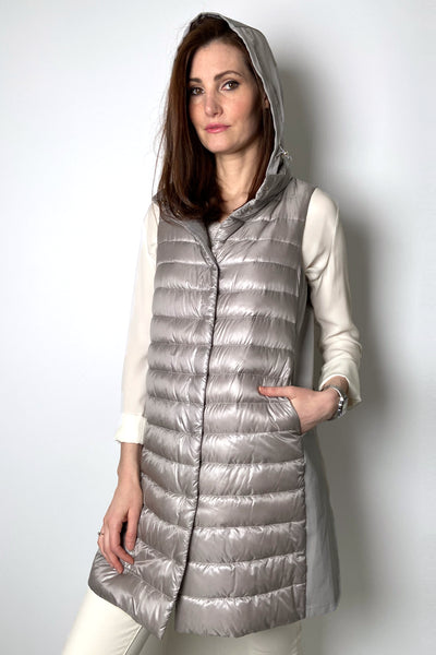 Herno Ultralight Taupe Puffer Vest